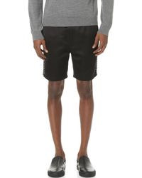 Marc Jacobs - Satin Piped Shorts - Lyst