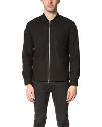 Timo Weiland - Zip Front Shirt - Lyst