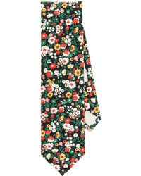 The Hill-side - Small Flower Print Tie - Lyst