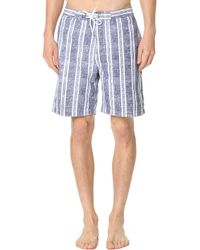"Trunks Surf & Swim - Swami 8"" Chambray Stripe - Lyst"
