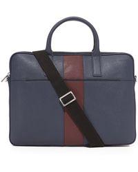Jack Spade - Striped Barrow Leather Portfolio Briefcase - Lyst