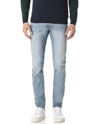 Club Monaco - Super Slim Vintage Wash Denim Jeans - Lyst