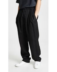 Lemaire - Large Elasticated Pants - Lyst