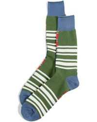 Anonymous Ism - Diffa Border Crew Socks - Lyst