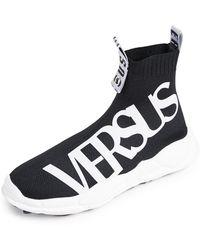 Versus - Logo Sock Sneakers - Lyst