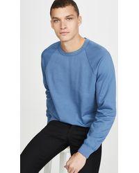 Save Khaki - Long Sleeve Suprima Fleece Crew Neck Sweatshirt - Lyst