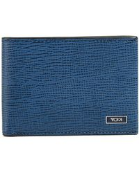 Tumi - Men's Textured Leather Billfold Wallet - Lyst