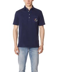 Polo Ralph Lauren - Washed Lisle Patch Polo Shirt - Lyst