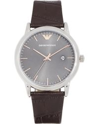Emporio Armani - Luigi Watch, 42mm - Lyst
