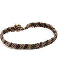 Caputo & Co. - Hand-knotted Stripe Bracelet - Lyst