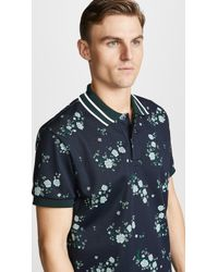 KENZO - Floral Short-sleeve Polo Top - Lyst