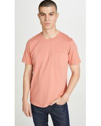 Billy Reid - Short Sleeve Washed Cotton T-shirt - Lyst