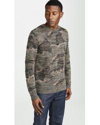 J.Crew - Wallace & Barnes Camo Print Sweater - Lyst