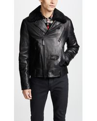 Mackage - Roan Leather Moto Jacket - Lyst
