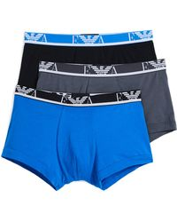 Emporio Armani - 3 Pack Monogram Trunks - Lyst