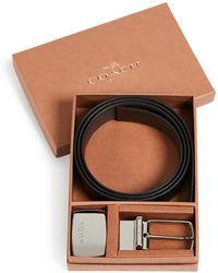 COACH - Boxed Plaque Reversible Dress Belt - Lyst