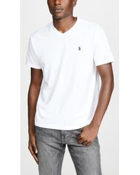Polo Ralph Lauren - V Neck Classic Fit Tee Shirt - Lyst