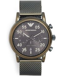 Emporio Armani - Luigi Watch, 43mm - Lyst