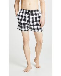 Solid & Striped - The Classic Gingham Swim Trunks - Lyst