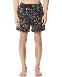 Billy Reid - Sea Oat Swim Shorts - Lyst