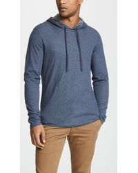 Vince - Contrast Double Knit Hoodie - Lyst