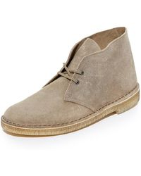 Clarks - Distressed Suede Desert Boots - Lyst