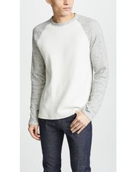 Vince - Raglan Long Sleeve Crew Neck Shirt - Lyst
