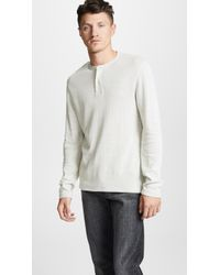 Vince - Thermal Henley Shirt - Lyst