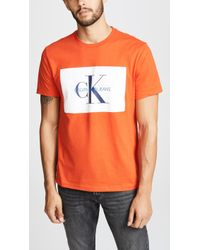 Calvin Klein - Monogram Crew Neck Tee - Lyst