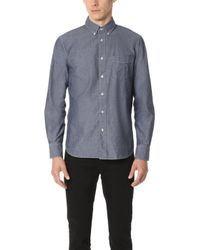 Rag & Bone - Standard Issue Chambray Shirt - Lyst