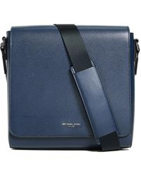Michael Kors - Harrison Leather Messenger Bag - Lyst