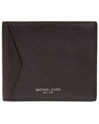 d02f0e5b67315 Lyst - Michael Kors Bryant Leather Billfold Wallet in Black for Men
