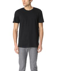 Naked & Famous - Circular Knit T Shit - Black Tee - Lyst