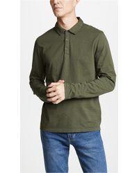 Vince - Regular Fit Garment Dye Long Sleeve Polo - Lyst