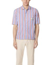 Maison Kitsuné - Stripes Short Sleeve Shirt - Lyst