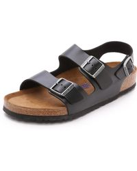 Birkenstock - Amalfi Leather Soft Footbed Milano Sandals - Lyst