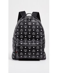 MCM - Stark White Logo Visetos Backpack - Lyst