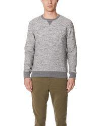 Billy Reid - Boucle Crew Sweater - Lyst