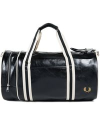 Fred Perry | Black Classic Barrel Bag | Lyst