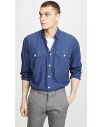 a6a1b0f358e Lyst - AllSaints Cortes Boxy Short Sleeved Denim Shirt in Blue for Men