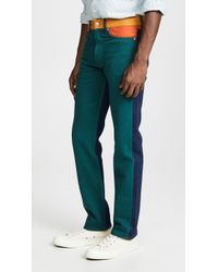 Calvin Klein - Straight Blocked Colour Ukelely Patch Jeans - Lyst