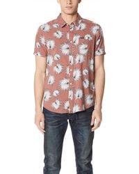 RVCA - Palms Short Sleeve Shirt - Lyst