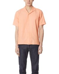 Gitman Brothers Vintage - Chambray Shirt With Short Sleeves - Lyst