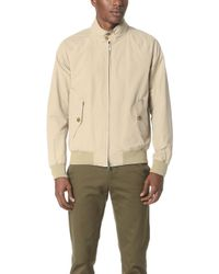 Baracuta - G9 Original Harrington Jacket Natural - Lyst