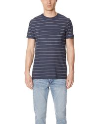 Theory - Essential Striped Pocket Tee - Lyst