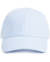 Larose Seersucker Baseball Cap - Blue