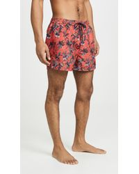 PS by Paul Smith - Pink Floral Classic Swim Shorts - Lyst