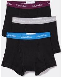 Calvin Klein - 3 Pack Cotton Classic Trunks - Lyst