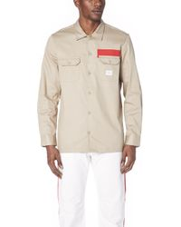 Calvin Klein Jeans - Stripe Utility Shirt - Lyst