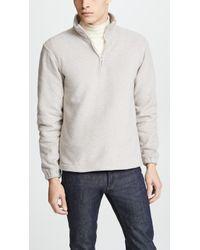De Bonne Facture - Quarter Zip Sweater - Lyst